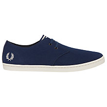 Buy Fred Perry Byron Low Twill Trainers, Navy Online at johnlewis.com