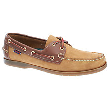 Buy Sebago Endeavour Leather Boat Shoes, Tan Online at johnlewis.com