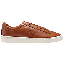 Buy Fred Perry Spencer Leather Lace-Up Trainers Online at johnlewis.com