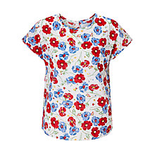 Buy Collection WEEKEND by John Lewis Cluster Dobby Top, Ivory/Multi Online at johnlewis.com
