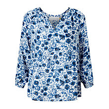 Buy Collection WEEKEND by John Lewis Etched Floral Blouse, Blue Online at johnlewis.com