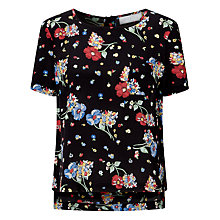 Buy Collection WEEKEND by John Lewis Riverboat Floral Top, Black/Multi Online at johnlewis.com