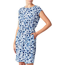 Buy Collection WEEKEND by John Lewis Etched Floral Dress, Blue/White Online at johnlewis.com