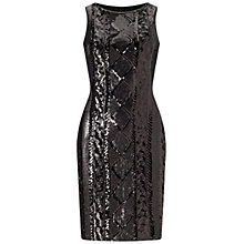 Buy Adrianna Papell Sleeveless Cable Sequin Cocktail Dress, Black Online at johnlewis.com