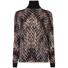 Buy Karen Millen Plaid Knit Jumper, Black/Multi Online at johnlewis.com