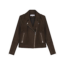 Buy Gerard Darel Mick Leather Jacket, Dark Green Online at johnlewis.com