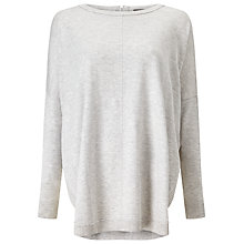 Buy Phase Eight Abriella Curve Hem Jumper, Grey Online at johnlewis.com