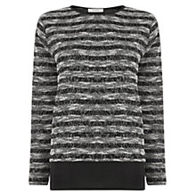 Buy Oasis Strip and Cut and Sew Top, Black Online at johnlewis.com