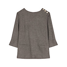 Buy Gerard Darel Bambon Blouse, Black/Beige Online at johnlewis.com