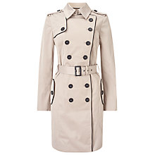 Buy Jacques Vert Contrast Trim Trench Coat, Neutral Online at johnlewis.com
