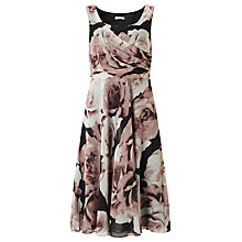 Buy Jacques Vert Floral Print Prom Dress, Multi/Black Online at johnlewis.com