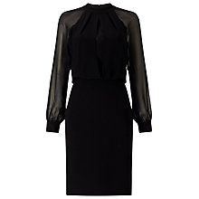 Buy Adrianna Papell Chiffon Blouse Dress, Black Online at johnlewis.com