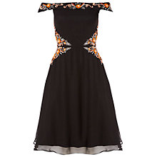 Buy Raishma Off The Shoulder Floral Dress, Black Online at johnlewis.com