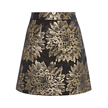 Buy Karen Millen Floral Jacquard Skirt, Black/Multi Online at johnlewis.com