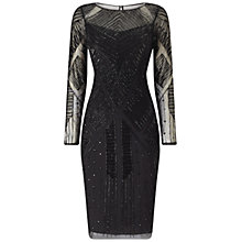 Buy Adrianna Papell Beaded Cocktail Dress, Black Online at johnlewis.com
