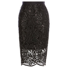 Buy Coast Lillian Lace Pencil Skirt, Black Online at johnlewis.com