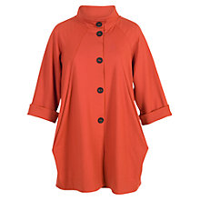 Buy Chesca Button Detail Coat, Burnt Orange Online at johnlewis.com