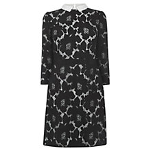 Buy Oasis Lace Collar Dress, Black Online at johnlewis.com