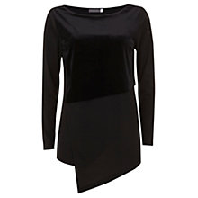 Buy Mint Velvet Velvet Blocked Tee, Black Online at johnlewis.com