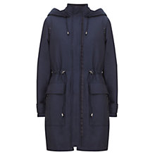 Buy Mint Velvet Sateen Finish Parka, Blue Online at johnlewis.com