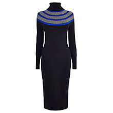 Buy Karen Millen Stitch Yoke Dress, Black/Multi Online at johnlewis.com