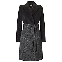 Buy Phase Eight Isla Colourblock Coat, Charcoal Online at johnlewis.com