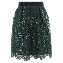 Buy Coast Aniston Sequin Skirt, Green Online at johnlewis.com