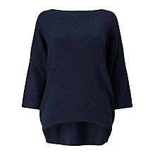 Buy Phase Eight Klarissa Textured Jumper, Navy Online at johnlewis.com