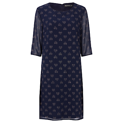 Sugarhill Boutique Annabelle Heart Tunic Dress, Navy