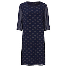 Buy Sugarhill Boutique Annabelle Heart Tunic Dress, Navy Online at johnlewis.com