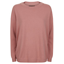 Buy Jaeger Cashmere Slouchy Jumper, Pale Pink Online at johnlewis.com