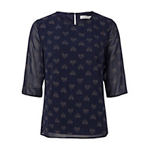 Buy Sugarhill Boutique Alley Gold Heart Dot Top, Navy Online at johnlewis.com