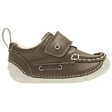 Buy Clarks Baby's Cruiser Deck Leather Shoes, Brown Online at johnlewis.com