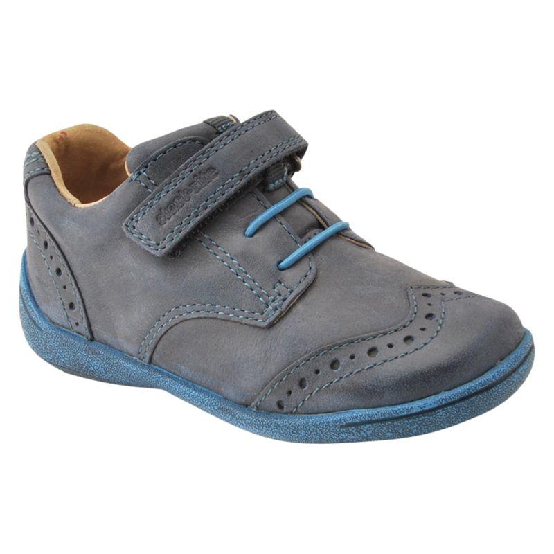 Start-Rite Start-rite Children's Hugo Super Soft Riptape Leather Shoes, Navy