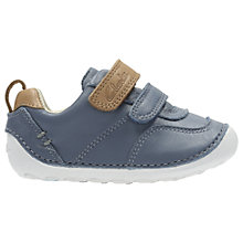 Buy Clarks Children's Tiny Aspire Leather Shoes, Denim Blue Online at johnlewis.com