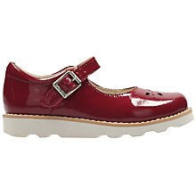 Buy Clarks Children's Crown Posy Patent Shoes, Red Online at johnlewis.com