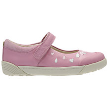 Buy Clarks Children's Lil Folk Peg Mary Jane Shoes, Pink Online at johnlewis.com