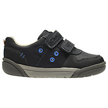 Buy Clarks Children's Little Lil Folk Pop Shoes, Navy Online at johnlewis.com