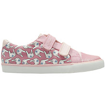 Buy Clarks Children's Gracie Pip Canvas Rip-Tape Shoes, Pink Online at johnlewis.com