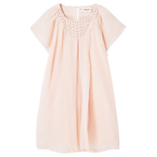 Buy Mango Kids Girls' Beaded Collar Dress, Light Pink Online at johnlewis.com