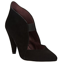 Buy Somerset by Alice Temperley Asney Elastic Cone Heeled Court Shoes, Black Suede Online at johnlewis.com