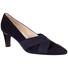Buy Peter Kaiser Malana Cross Strap Court Shoes, Navy Online at johnlewis.com