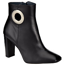 Buy Kin by John Lewis Ola Block Heeled Ankle Boots, Black Leather Online at johnlewis.com