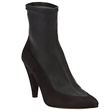 Buy Somerset by Alice Temperley Odcombe Cone Heeled Ankle Boots, Black Leather Online at johnlewis.com