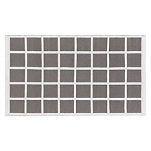 Buy House by John Lewis Grid Rug, Grey Online at johnlewis.com