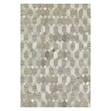 Buy John Lewis Cowhide Hexagon Rug, Grey Online at johnlewis.com