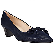 Buy Peter Kaiser Stephanie Bow Block Heeled Court Shoes Online at johnlewis.com