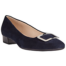 Buy Peter Kaiser Neele Square Toe Ballet Pumps, Navy Online at johnlewis.com