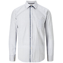 Buy BOSS Orange Eslime Mini Floral Print Slim Fit Shirt, White Online at johnlewis.com