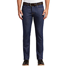 Buy BOSS Orange Orange90 Stretch Cotton Tapered Jeans, Navy Online at johnlewis.com